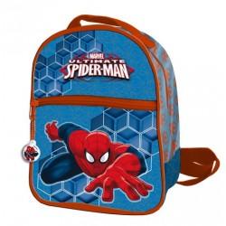 Mochila Cremallera Frontal 24 Cms Spiderman