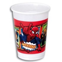 Vaso Plástico Spiderman