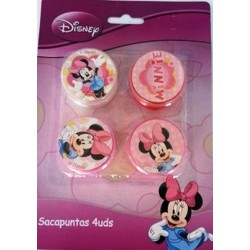 Sacapuntas 4 Piezas Minnie Mouse