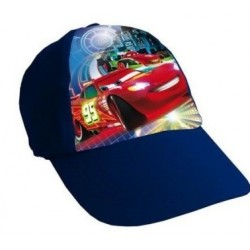 Gorra Simple Print Cars Azul Oscura