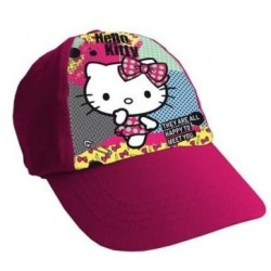 Gorra Simple Print Hello Kitty Rosa Oscuro