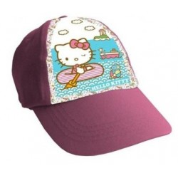Gorra Simple Print Hello Kitty Rosa Playa