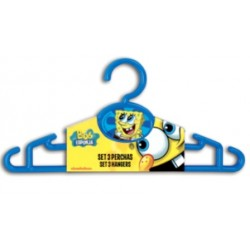 Set 3 Perchas Bob Esponja