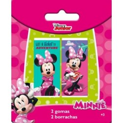2 Gomas De Borrar Minnie Mouse