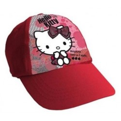 Gorra Simple Print Hello Kitty Roja