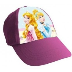 Gorra Simple Print Princesas Rosa