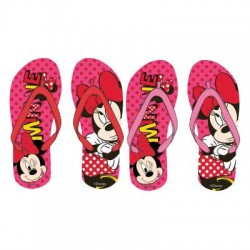 Flip Flop Minnie Mouse  Rosas Chanclas Dedo