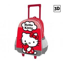 Mochila  Hello Kitty Con Carro 3D Manzana