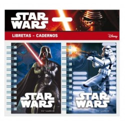 Set 2 Libretas Star Wars