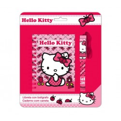 Set Libreta Con Bolígrafo Hello Kitty
