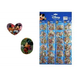 50 Mini Pegatinas Mickey Y Minnie Mouse