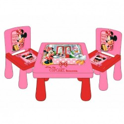 Set Mesa Y 2 Sillas Minnie Mouse