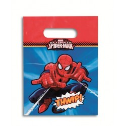 6 Bolsas Fiestas Spiderman