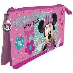 Estuche Minnie Mouse  3 Compartimentos