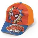 Gorra Full Print Spiderman Roja