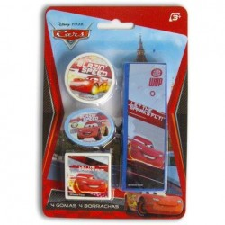 Set 4 Gomas De Borrar Cars