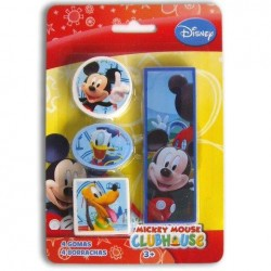 Set 4 Gomas De Borrar Mickey Mouse