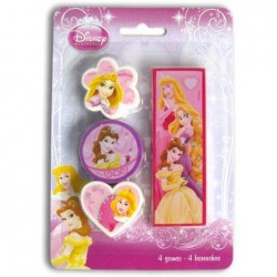 Set 4 Gomas De Borrar Princesas