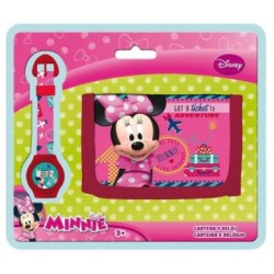 Billetera + Reloj  Minnie Mouse