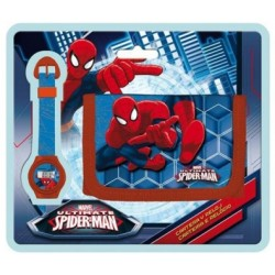 Billetera + Reloj Spiderman