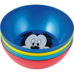 Set 4 Cuencos Mickey Mouse Colores