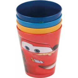 Set 4 Vasos Cars Colores