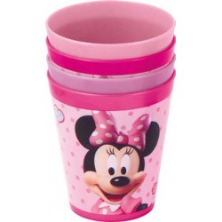 Set 4 Vasos Colores  Minnie Mouse