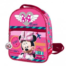 Mochila Cremallera Frontal 24  Cms Minnie Mouse